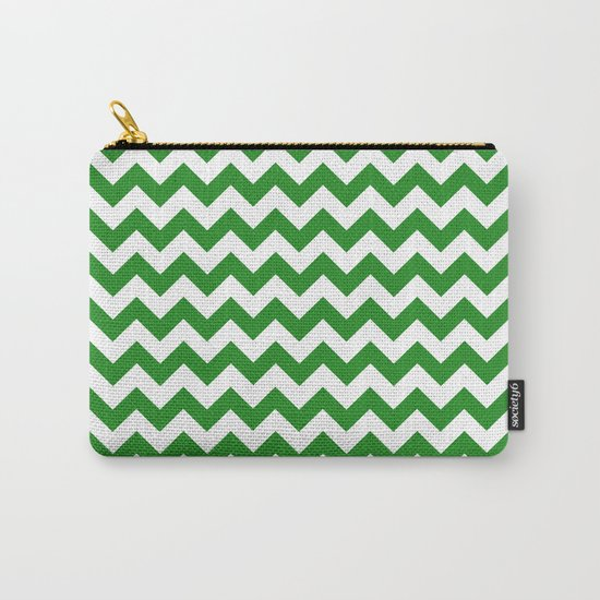 Chevron (Forest Green/White) Carry-All Pouch