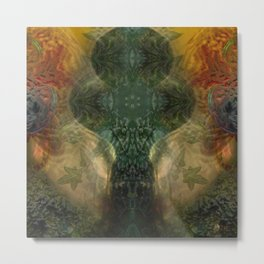 """The Inner Forest (caramel pattern)"" Metal Print"