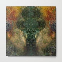 """The Inner Forest (caramel pattern)"" Metal Print"