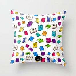 Book Buddies Throw Pillow