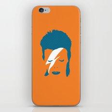 Ziggy Stardust - Orange iPhone & iPod Skin