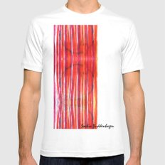 Warm Lines Mens Fitted Tee MEDIUM White