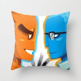 BLUE VS ORANGE Throw Pillow