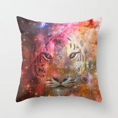 Galactic Tiger  Throw Pillow