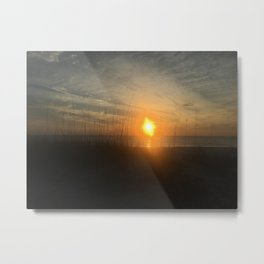dune sunset Metal Print