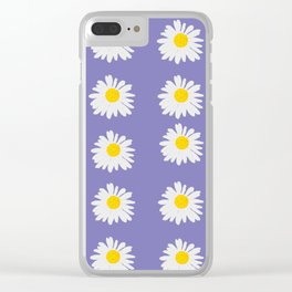 Purple Daises Clear iPhone Case