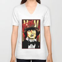 acdc V-neck T-shirts featuring Rockarture ACDC by JHC Studio