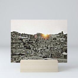Sassi di Matera: view Mini Art Print