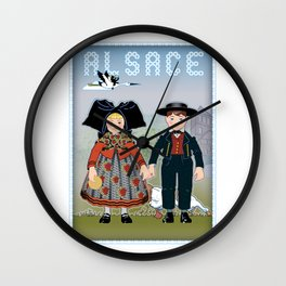 Children of Alsace Wall Clock
