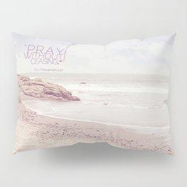 Pink Heart Beach. (Pray) Pillow Sham