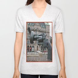 Monument to Nonviolence, Malmo, Sweden Unisex V-Neck
