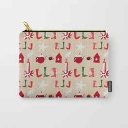 Christmas Cosy Ivory Carry-All Pouch
