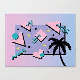 Memphis Pattern 25 - Miami Vice / 80s Retro / Palm Tree Canvas Print