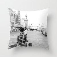 boardwalk empire Throw Pillows featuring Boardwalk by Ethan Luck