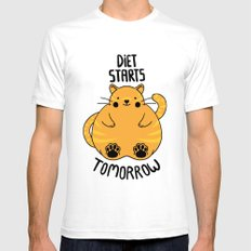 Diet Starts Tomorrow! Mens Fitted Tee SMALL White