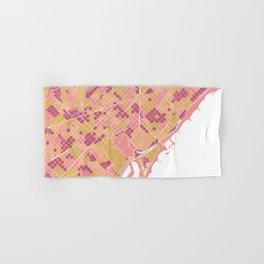 Barcelona map Hand & Bath Towel
