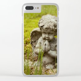 Moss and Angel Clear iPhone Case