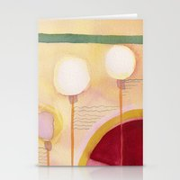 green lantern Stationery Cards featuring Green Lantern by Angella Meanix