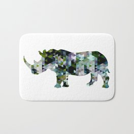 Rhino [triangulated s Bath Mat