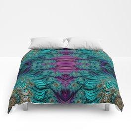 Aqua Swirl 2 Comforters