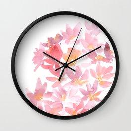 Loose Daises Wall Clock