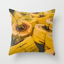 Yellow gathering Throw Pillow