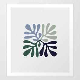 Matisse cutoff - abstract cutoff Art Print