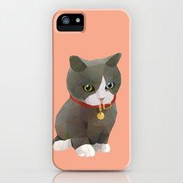 Kitten Polygon Art iPhone Case