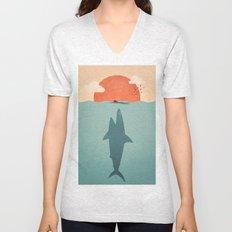 Shark Attack Unisex V-Neck