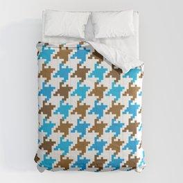 Houndstooth – blue Comforters