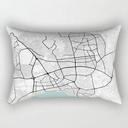 Antalya,Turkey City Map with GPS Coordinates Rectangular Pillow