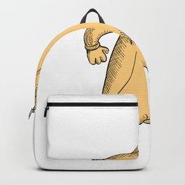 Penguin Runner Running Drawing Backpack