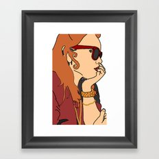 Shady Lady Framed Art Print