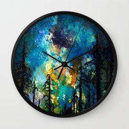 Night in Color Wall Clock