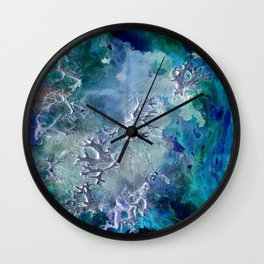 Lunar neuronal essence Wall Clock