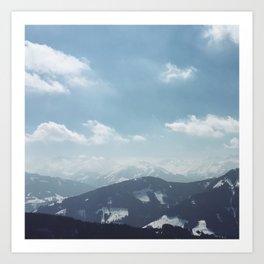 The alps 1 Art Print