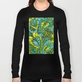 Schismatoglottis Calyptrata – Green Palette Long Sleeve T-shirt