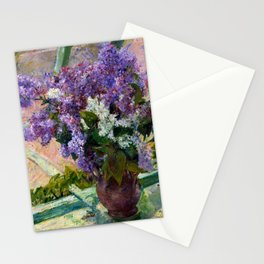 Mary Cassatt Lilacs in a Window Stationery Cards