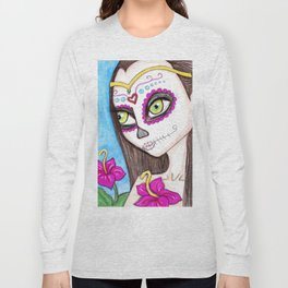 Hibiscus, Day of the Dead Long Sleeve T-shirt