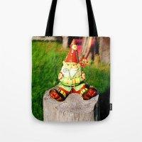 gnome Tote Bags featuring Gnome by Raffaella315