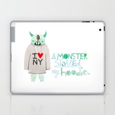 A monster stole my hoodie. Laptop & iPad Skin