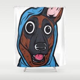 German Shepherd Hoodie Shower Curtain