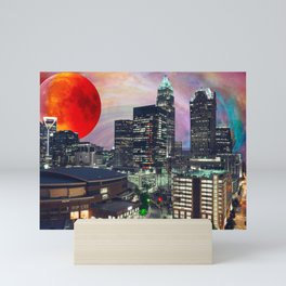 Charlotte Space Skyline 2 Mini Art Print