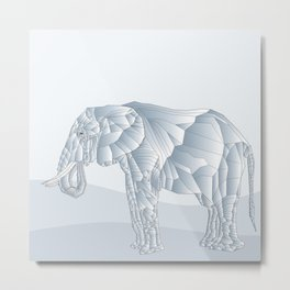 Stone Elephant Metal Print