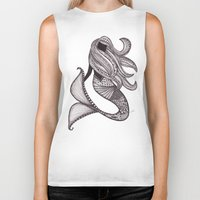 mermaid Biker Tanks featuring Mermaid by Laura Maxwell