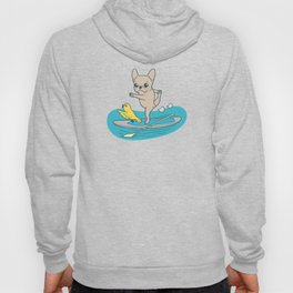 Frenchie practices her yoga poses on a stand-up paddle board Hoody