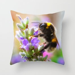 Humble Bumblebee Throw Pillow