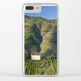 A chapel among vineyards Clear iPhone Case