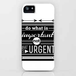 importance iPhone Case