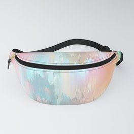 Candy Rainbow Glitch Fall #abstractart Fanny Pack